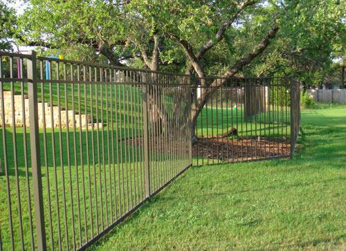 ameristar montage magestic 3 rail black steel fence