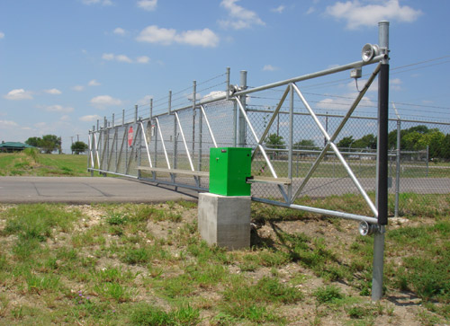 automatic entrance gate security fence