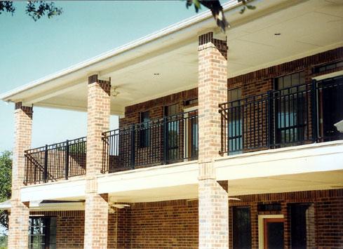 black handrail upper balcony