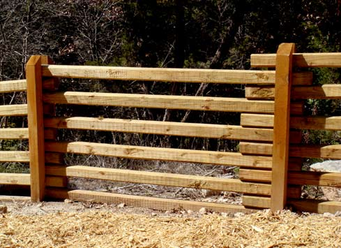 cedar split rail fence ranch