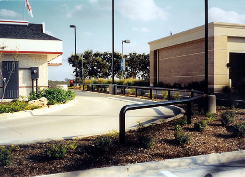 drive through guardrail jack in the box