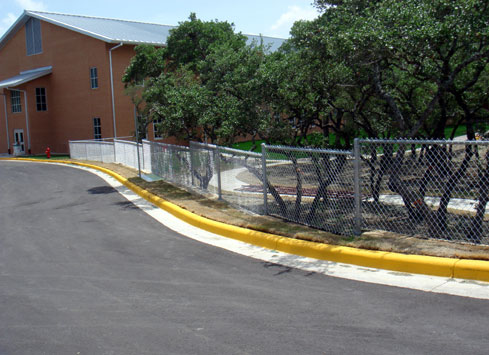 galvanized chain link fence sections