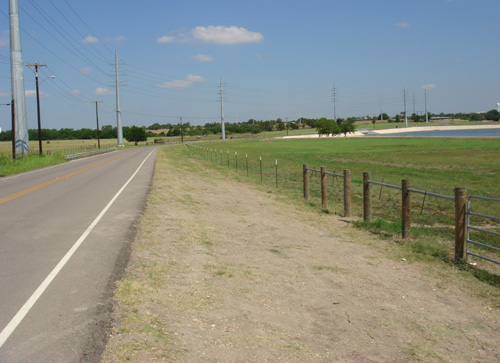 short roadside farm ranch fence