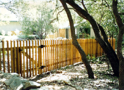 spaced picket fence 4 foot with gate