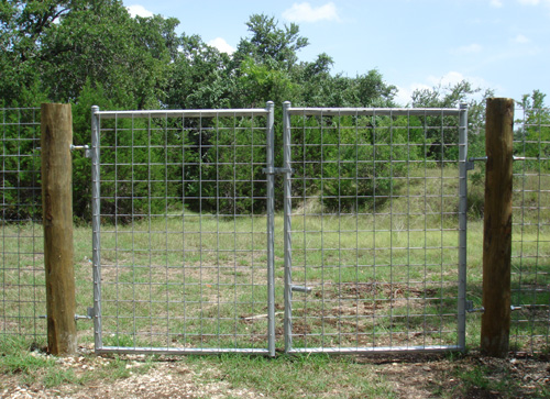 steel gate frame cattle panel fence pine posts