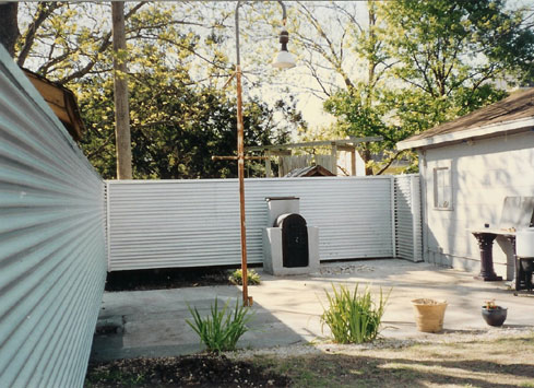 tin corrugated metal backyard fence