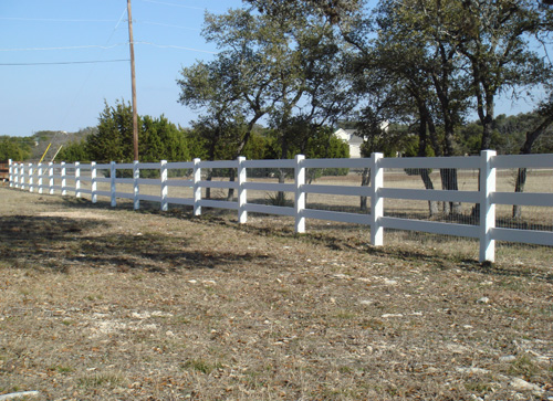 white horse rail ranch fence