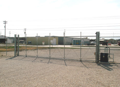 automatic gate at self storage facility 2