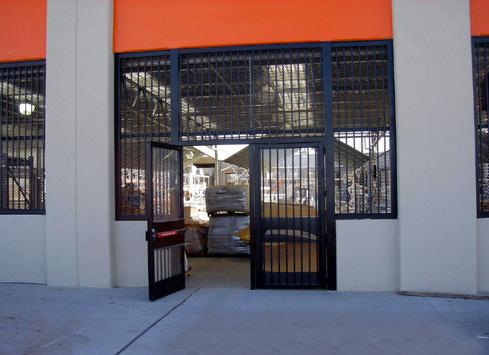 black metal fence and gate entrance