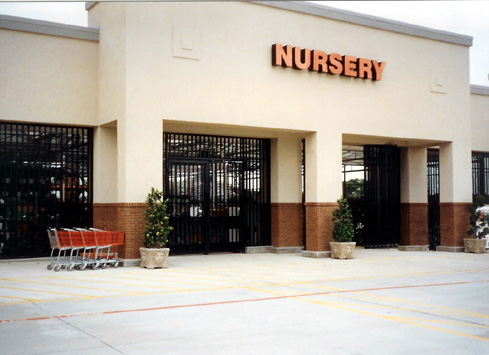 black metal fence nursery entrance