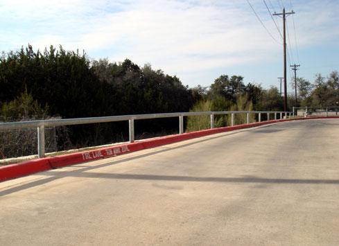 guardrail around parking lot