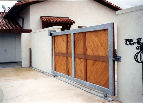 heavy duty wood gate with metal frame