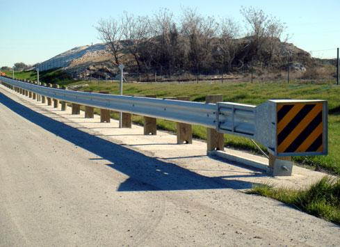 highway shoulder guardrail