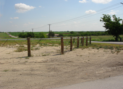 ranch fencing with treated posts