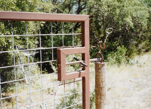 steel frame gate cattle panel fence